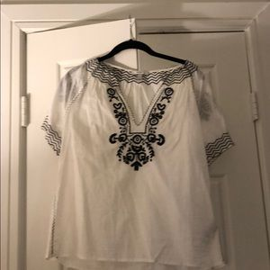 J.Crew Embroidered Blouse